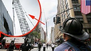New York crane accident: cable snaps sending AC unit plummeting 28 storeys - TomoNews