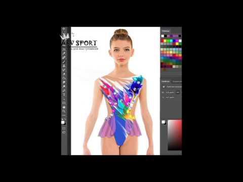 """Второй урок из цикла """"Эскизы купальников для художественной гимнастики в программе """"Photoshop"""""""