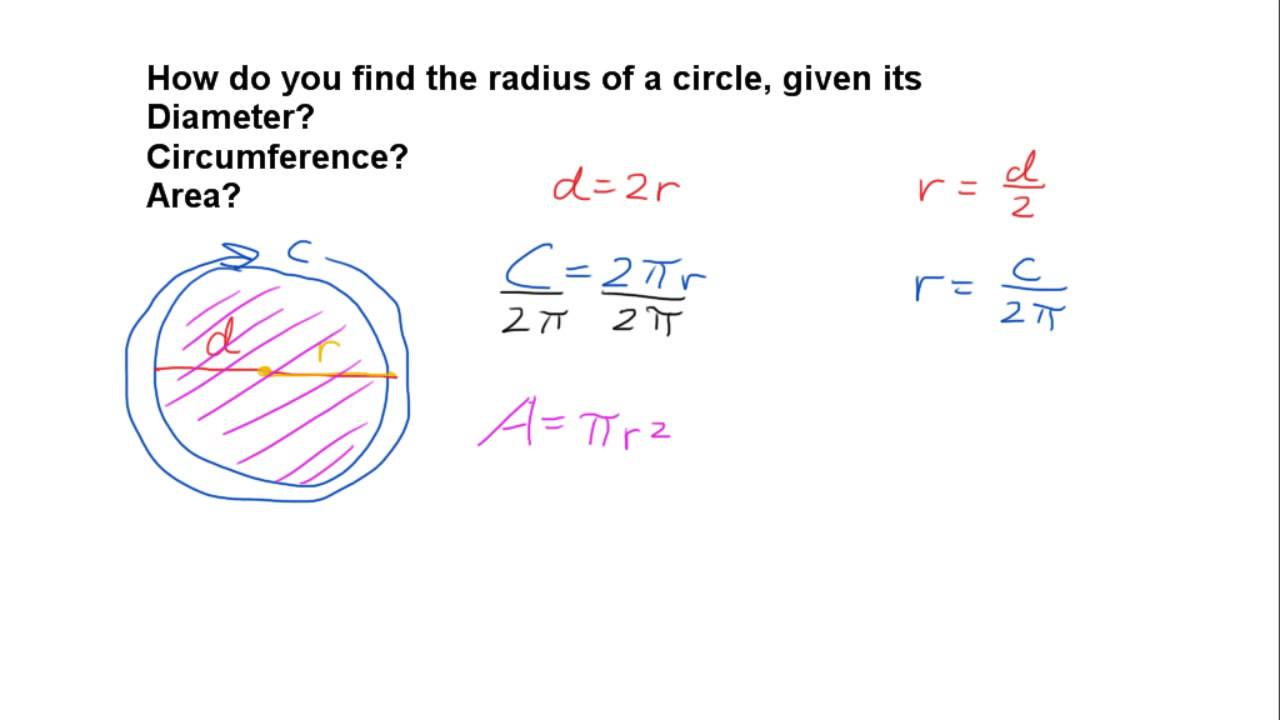 How to find the radius of a circle youtube how to find the radius of a circle ccuart Image collections