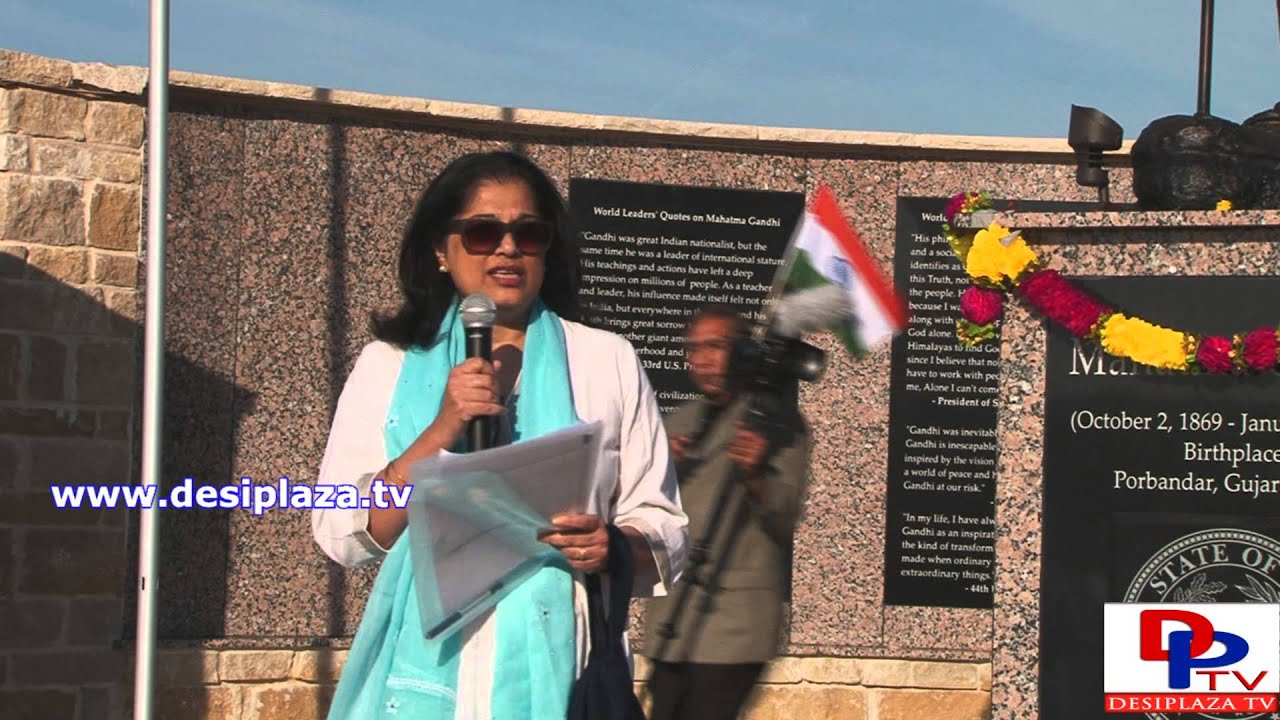 Mrs.Sukanya Gandhi Bharat Ram,Great Grand daughter of Mahatma Gandhi speaking