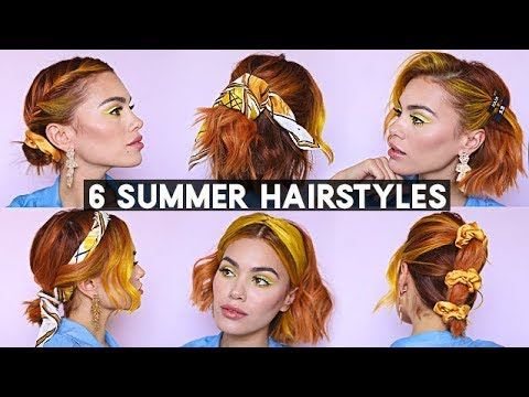 6 Summer Hairstyles For Short Hair Youtube
