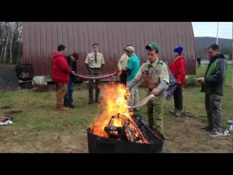 Flag Retirement Ceremony in Milton, Vermont