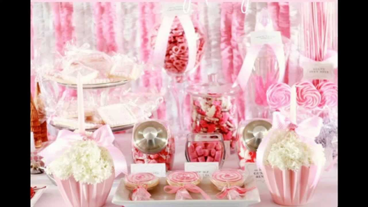 Baby girl first birthday party decorations ideas home for Baby birthday decoration