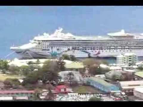 View of Roseau in Dominica