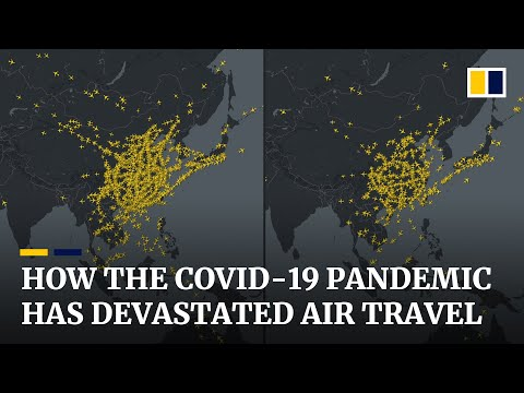 Tracking the massive impact of the Covid-19 pandemic on the world's airline industry in early 2020