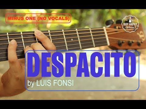 Luis Fonsi (Boyce Ave. version) acoustic guitar minus one cover w/ lyrics best