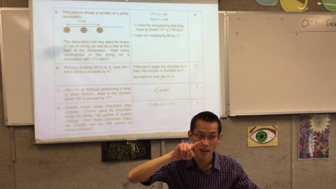 Year 7 Test Review (1 of 2: Maths Series, Algebraic equations ...