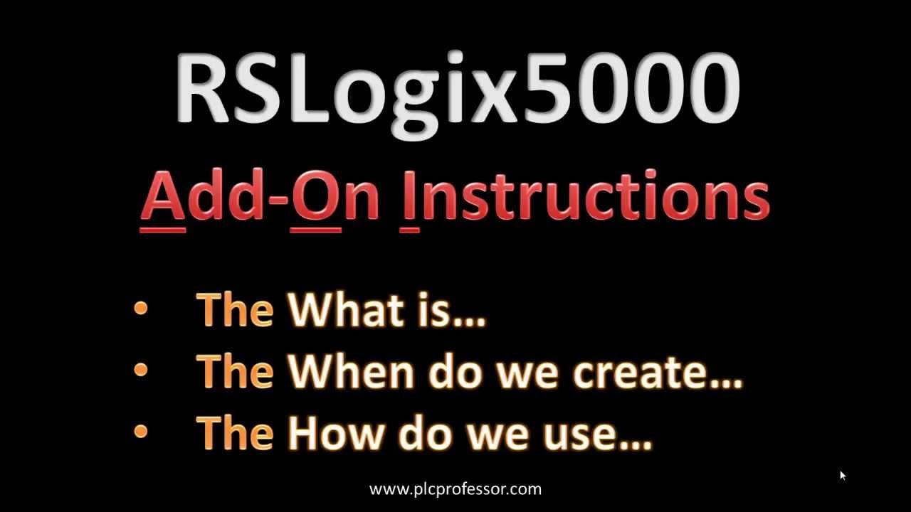 Rslogix 5000 add-on instructions | plcdev.