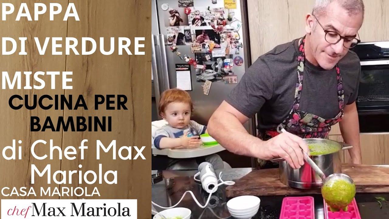 PAPPA DI VERDURE MISTE FATTA IN CASA - CUCINA PER BAMBINI - la video ricetta di Chef Max Mariola