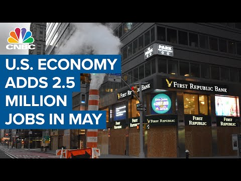 U.S. Economy Adds 2.5M Jobs In May, Vs Expected Decline Of 8.3 Million