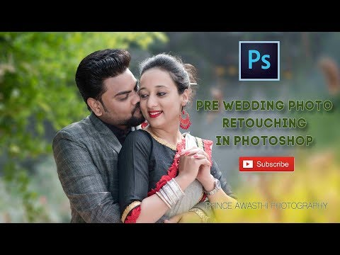 Pre Wedding photo Retouching in Photoshop  (Prince Awasthi Photography) thumbnail