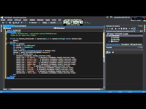 /TUTO/ Créé un Logiciel IP Localisation avec Visual Studio 2013 !