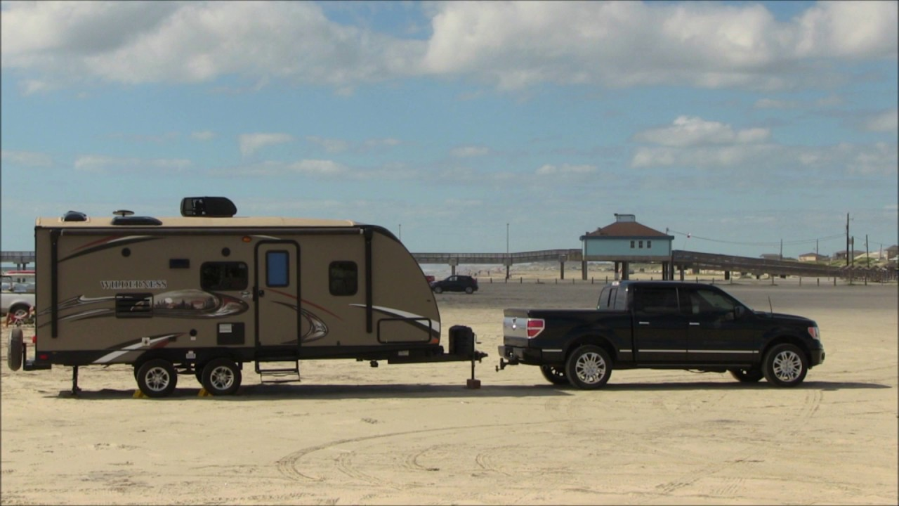 Port Aransas Travel Trailer Camping On The Beach