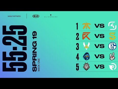 LEC (EULCS) Highlights ALL GAMES Week 1 Day 1 Spring 2019   League of Legends European Championship