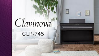 Yamaha Clavinova CLP-745 Digital Piano Overview