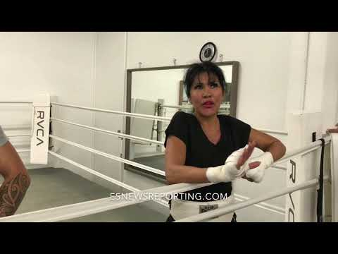 "Mia St. John:"" I fought Holly Holm and you can't find one single punch she landed!""  Es"
