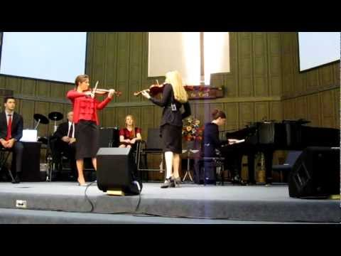 The Collingsworth Family  Brooklyn & Courtney Violin Duet