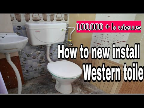 How to new install a western toilet in Tamil