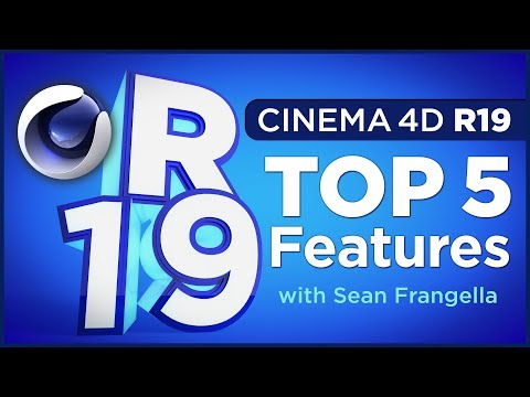 Cinema 4D R19 - Top 5 new features and updates - C4D Tutorial - Sean Frangella