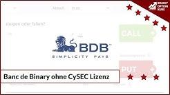 Broker Banc de Binary gibt CySEC Lizenz zurück