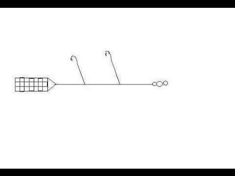 Фидерная оснастка с 2 крючками фото