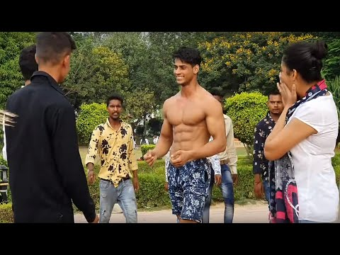 BEGGAR WITH 6 PACK ABS PRANK PART - 2  FITMANJEET 