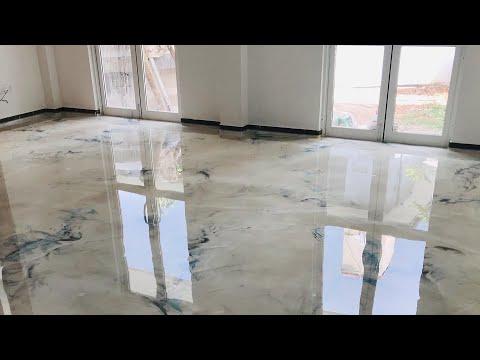 How we made designer Metallic Epoxy floors ?