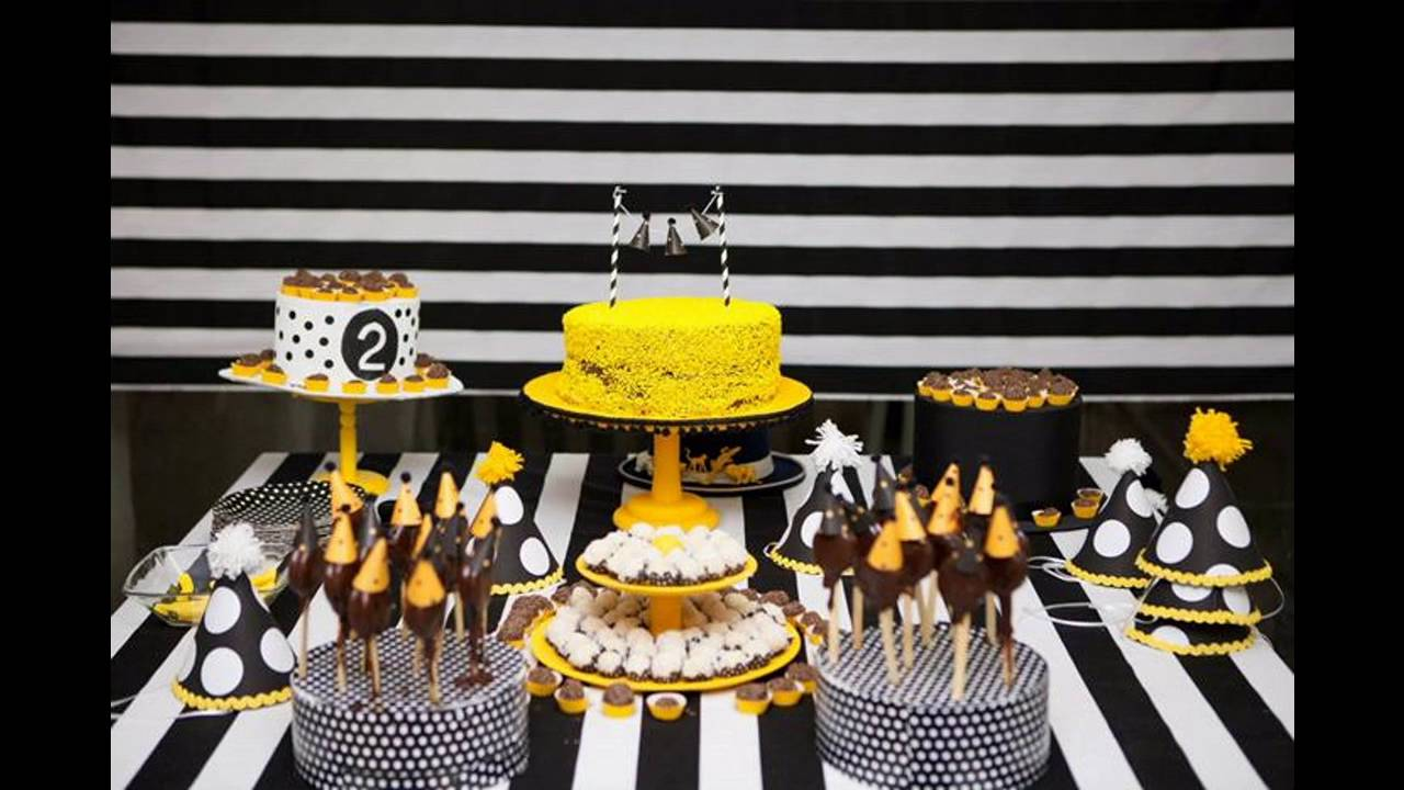 Yellow And Black Party Decoration Ideas