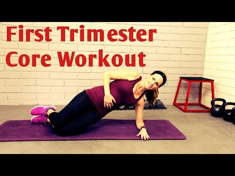 14 MInute First Trimester Core Workout----Safe Ab Exercises