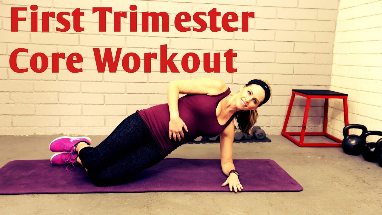 14 MInute First Trimester Core Workout----Safe Ab Exercises for Pregnancy