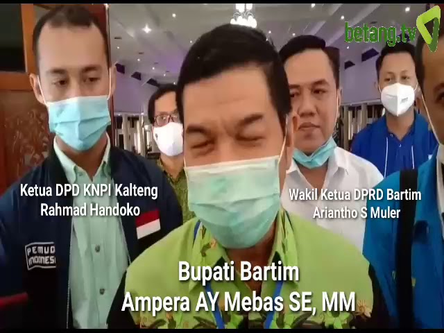 Ampera Kukuhkan Pengurus DPD KNPI Bartim 2020 - 2023  betang.tv