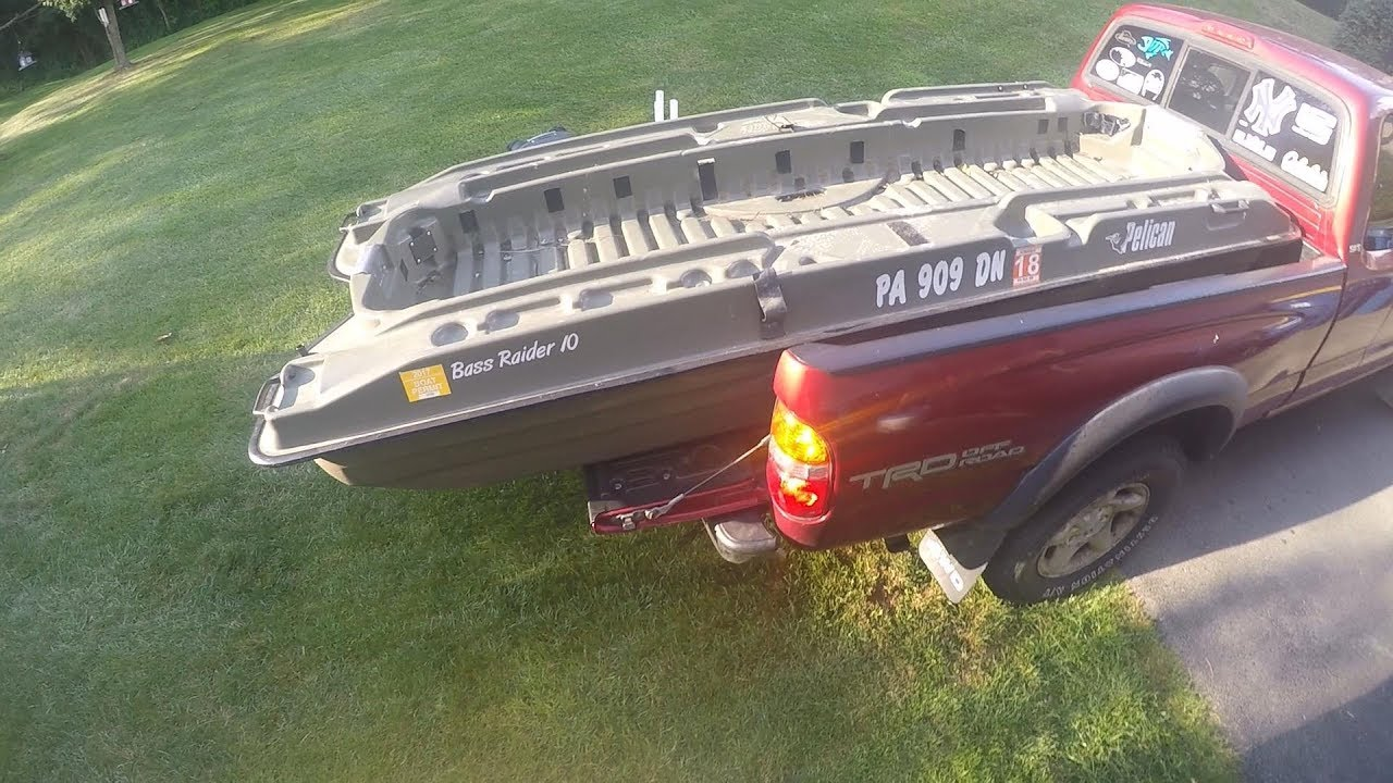 medium resolution of pelican bass raider how to load the boat in a small truck