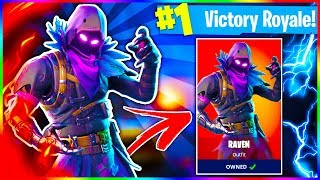 "Fortnite INSANE SOLO ""RAVEN"" Skin Victory Royale! High Kill WIN! (Stream Highlight)"