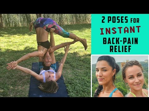 2 Acro Yoga Poses for Instant Back Pain Relief // Featuring Sanela Osmanovic