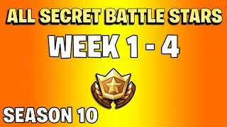 All secret battle stars week 1 to 4 - Fortnite Season 10
