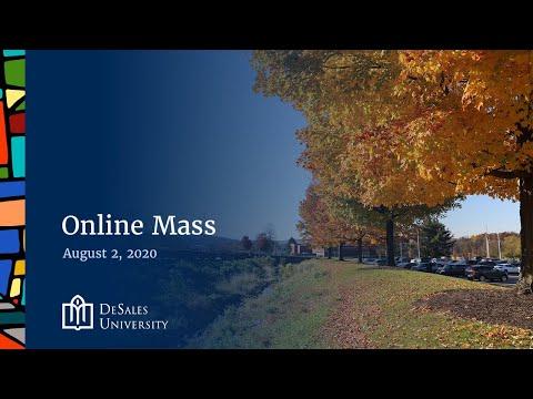 ✟ Online Mass, August 2, 2020 — DeSales University