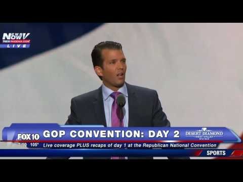 MOTIVATIONAL: Donald Trump Jr. Receives Standing Ovation For His Speech At RNC - FNN