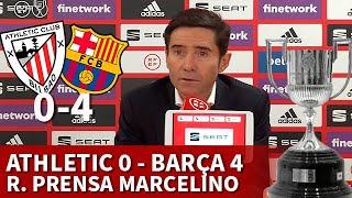 ATHLETIC 0 BARCELONA 4, FINAL COPA REY | MARCELINO, rueda prensa | Diario AS