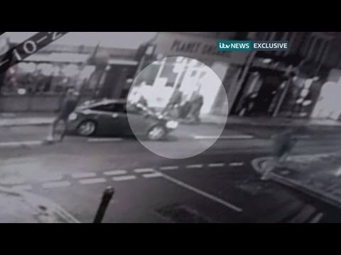 CCTV of anti-terror arrest on west London street