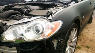 car wrapping jaguar xf v8 black mat  avery swf