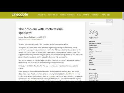 OBA Rant: I Hate Motivational Speakers