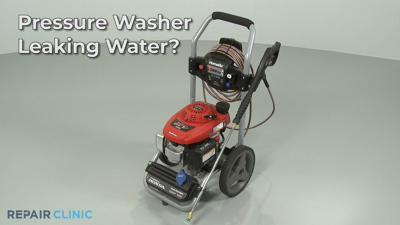 Top Reasons Pressure Washer Is Leaking Water Pressure Washertroubleshooting Youtube