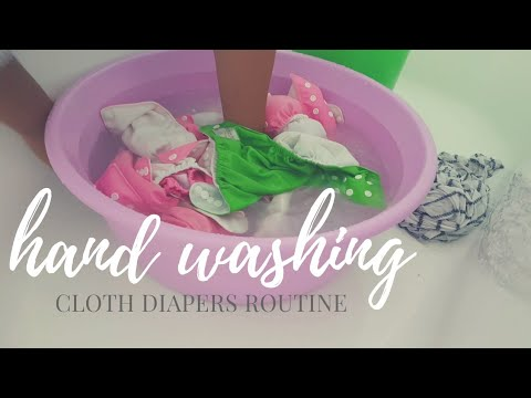 HAND WASHING CLOTH DIAPERS / WASHING ROUTINE OF CLOTH NAPPIES / The Mum Blog