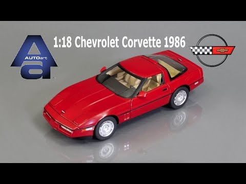 1/18 Autoart 1986 Chevrolet Corvette Diecast Model Car