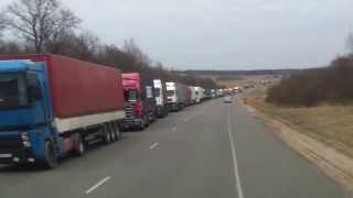 Очередь на границе с Литвой