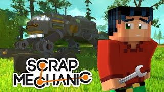 Minecraft Steve Plays Scrap Mechanic - Lets Build something Batman Will be Jelly of :D