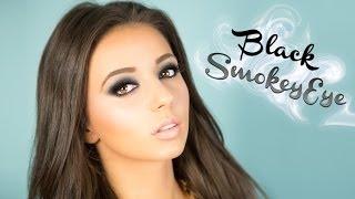 Chic Black Smokey Eye Makeup tutorial