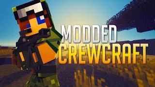 "Minecraft - Modded CrewCraft Livestream #2 - ""Bounce Pads to the Sky!"""