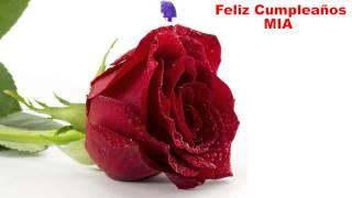 Mia - flowers - Happy Birthday
