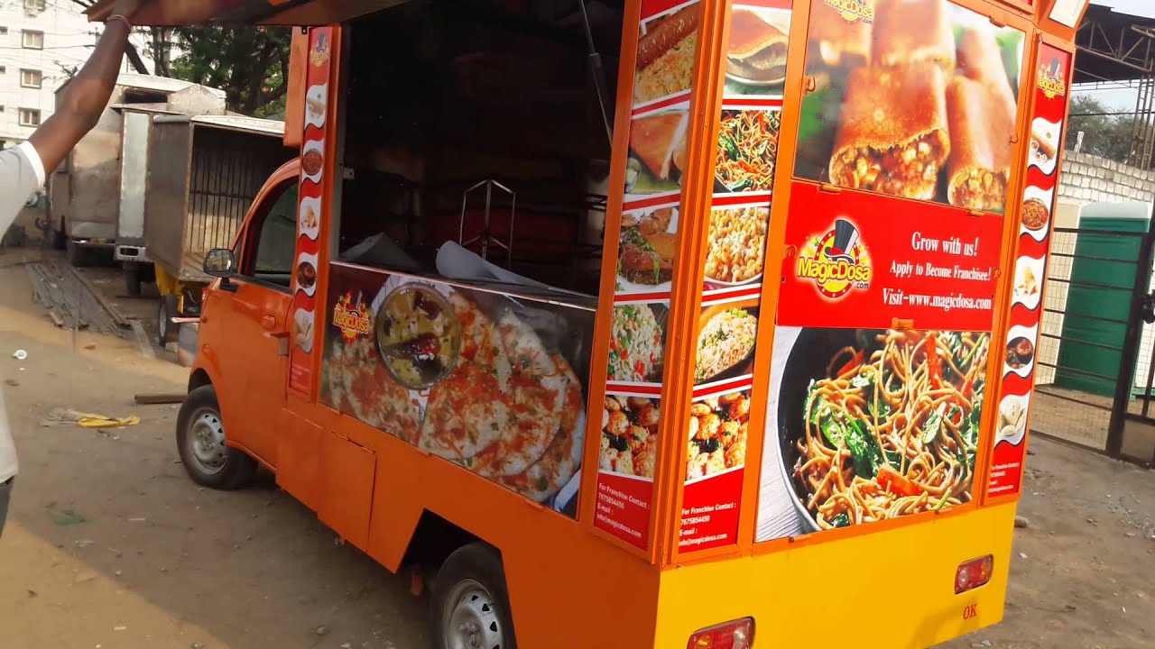 Mobile food van in Hyderabad call